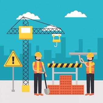 Worker construction equipment