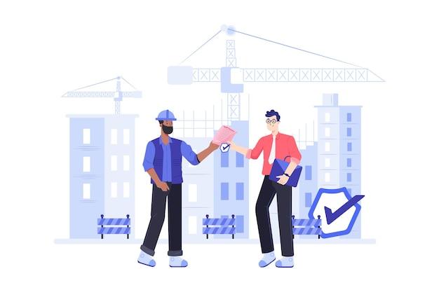Иллюстрация медицинского страхования работника