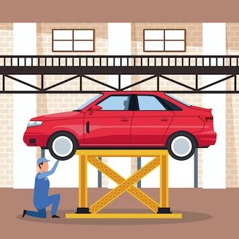자동차 공장에 노동자