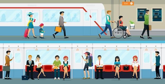 근로자와 장애인은 지하철을 이용할 수 있습니다.