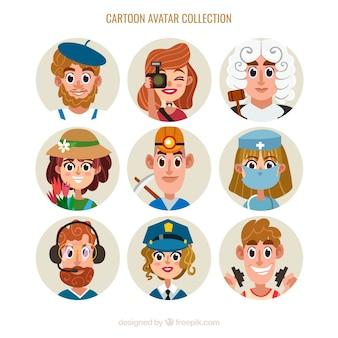 Avatar dei lavoratori con stile di cartone animato