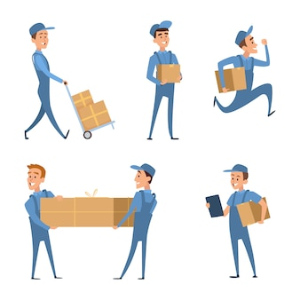 Workers of delivery. set of characters