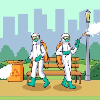 Работники, обеспечивающие уборку в общественных местах