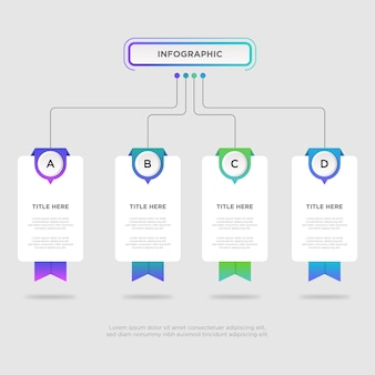 Workflow infographic design template