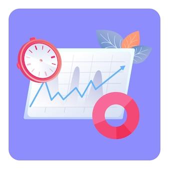 Workflow management plan flat vector illustration