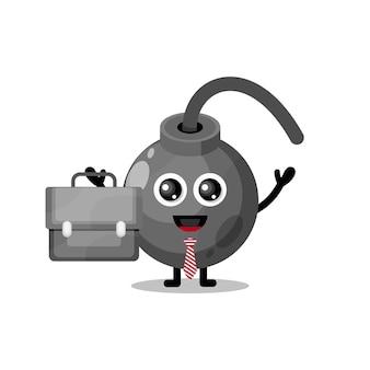 일하는 폭탄 귀여운 캐릭터 마스코트
