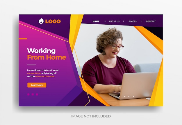 Working from home banner