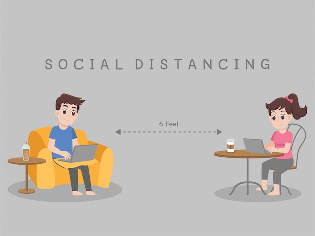 Working from home, stay home stay safe. social distancing