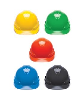 Working hard hat set. safety helmet isolated