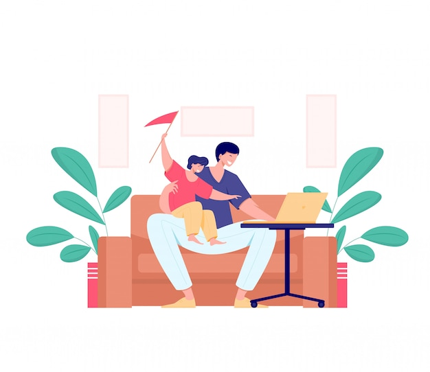 Working at home, freelance concept