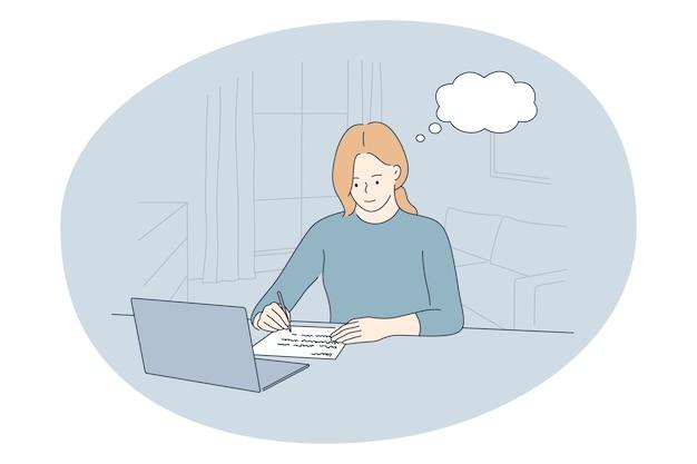 사무실, 현대 회사 노동자, 온라인 커뮤니케이션 개념에서 근무.