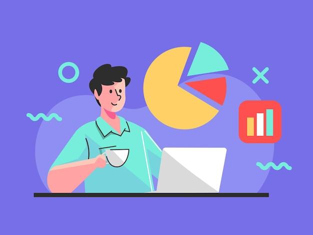 Работаю над анализом бизнес-данных