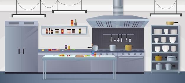 Working surface kitchen restaurant for cookin