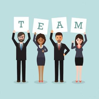 Working team design Free Vector