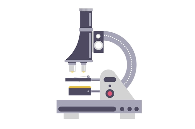 Working with a microscope. using microscopes in the laboratory concept.