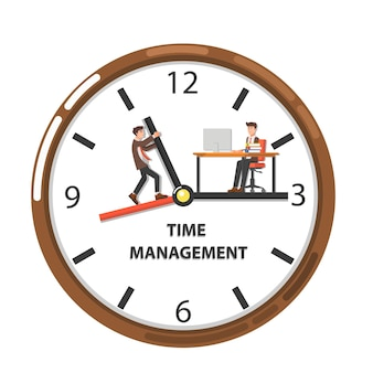 Working with time management concept