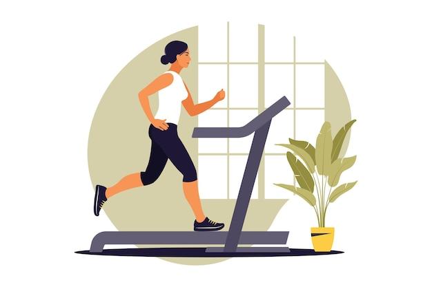 Концепция тренировки. здоровый образ жизни и благополучие. плоский. векторная иллюстрация