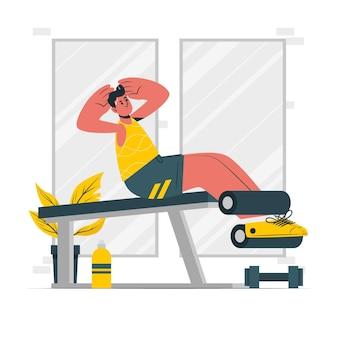 Illustrazione di concetto di allenamento