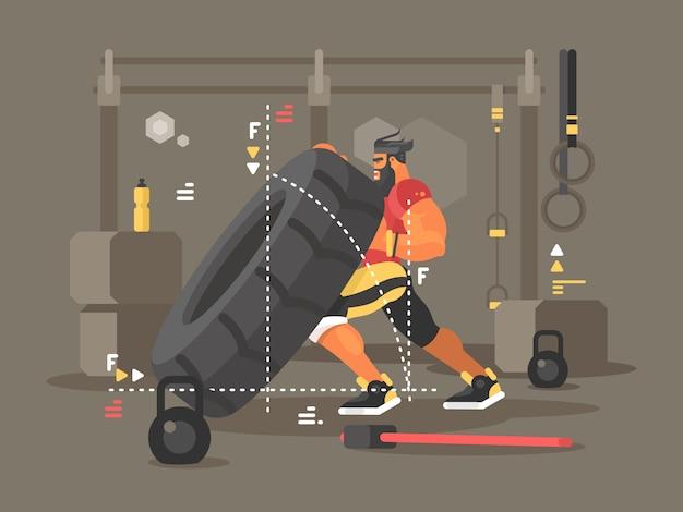 Workout concept illustration