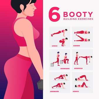 Тренировка мужчин набор мужчин, занимающихся фитнесом и упражнениями йоги