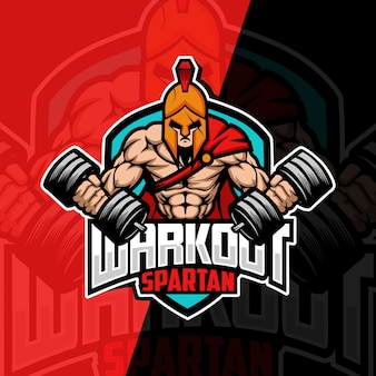 Workout spartan mascot esport