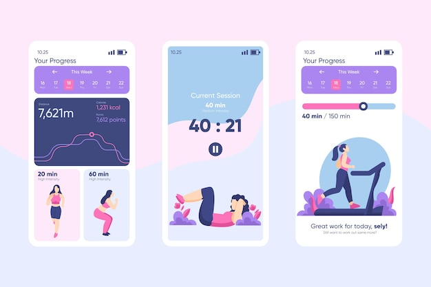 Workout tracker app concept