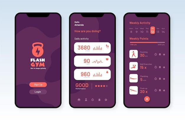 Workout tracker app interface