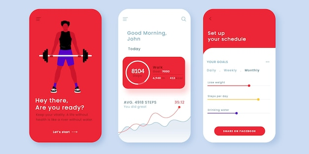 Workout tracker app template