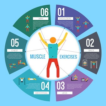 Workout training infographic template