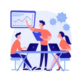 Иллюстрация вектора абстрактного понятия культуры рабочего места. общие ценности, системы убеждений, отношение к работе, команда компании, корпоративная культура, высокая производительность, абстрактная метафора здоровья сотрудников.