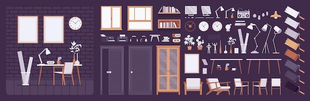 Workplace modern interior