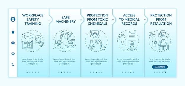 Workplace safety rights onboarding template