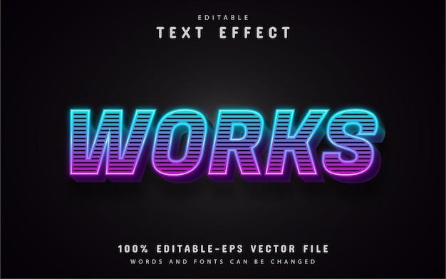 Работает текст, эффект 3d градиента текста с полосами