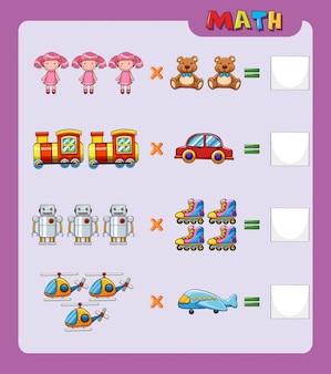 Worksheet template for easy multiplication