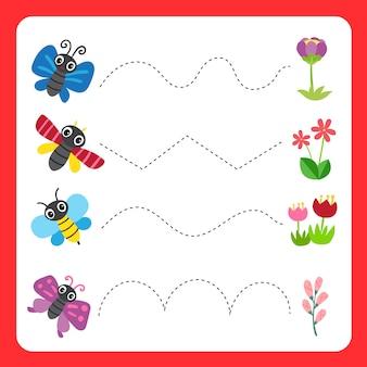 Worksheet vector design for kid