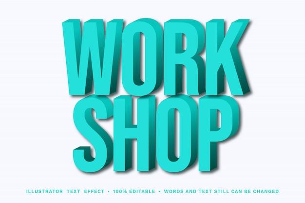 Workshop 3d - easy editable text effect