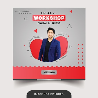Workshop social media template