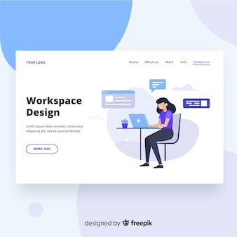 Workspace design landing page