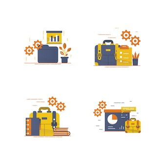 Workspace and equipment illustration