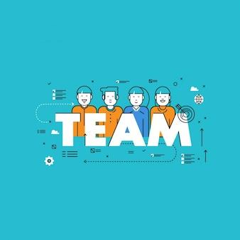 Workteam background design