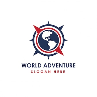 World adventure logo template