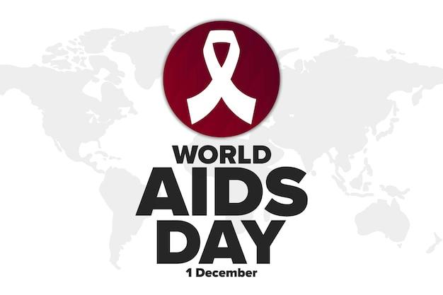 世界エイズデー。 12月1日。休日のコンセプト。