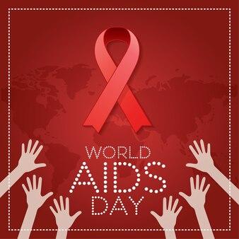 World aids day. 1st december world aids day postern