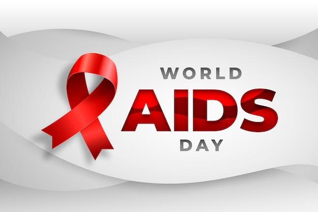 Sfondo di giornata mondiale contro l'aids in stile carta