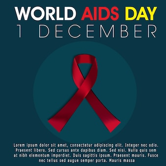 World aids day background vector
