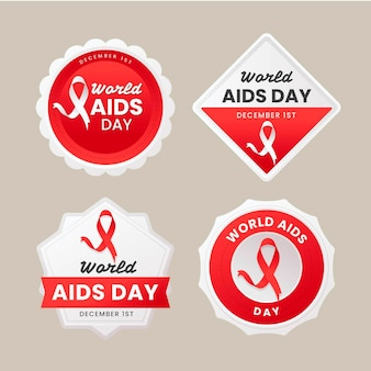 World aids day badge collection