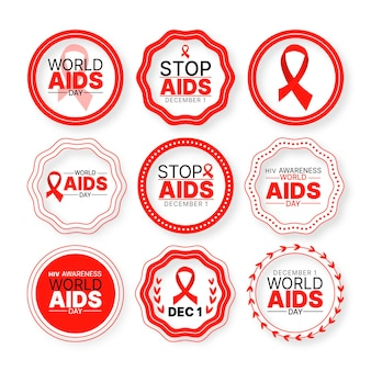 World aids day badges