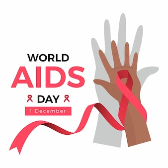 World aids day concept illustrated