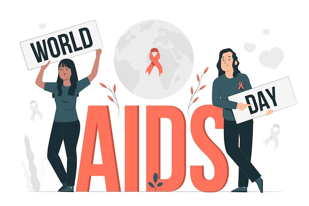 World aids day concept illustration