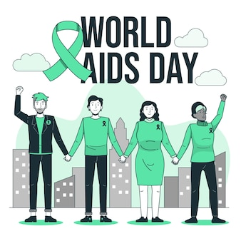 세계 에이즈의 날 개념 그림